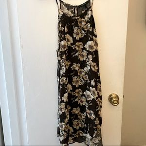 Forever 21 Spaghetti Strap Brown Floral Dress